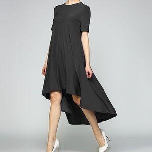 73975b7c1a1 Solo La Fe. SOLO LA FE BLACK HIGH LOW DRESS